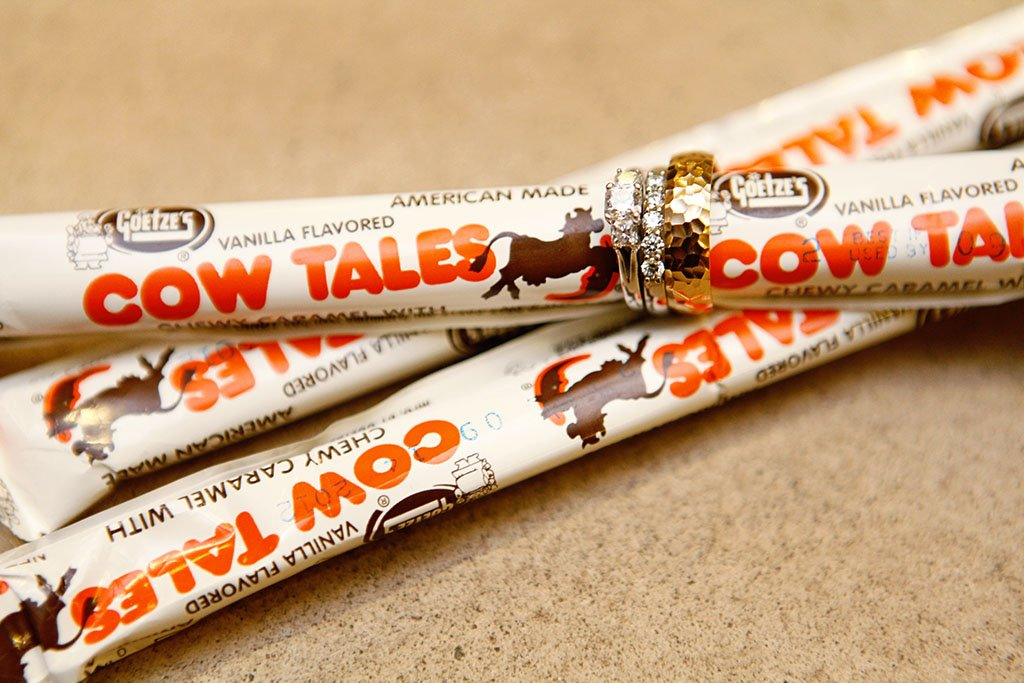 Cow Tales Candy Wedding Rings