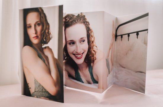 Boudoir Folding Nightstand mini album, Minneapolis boudoir photography, St Paul boudoir, Twin Cities portrait photographer
