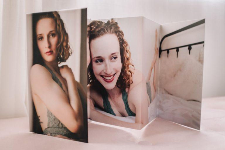 Boudoir Folding Nightstand mini album, Minneapolis boudoir photography, St Paul boudoir, Twin Cities portrait photographer