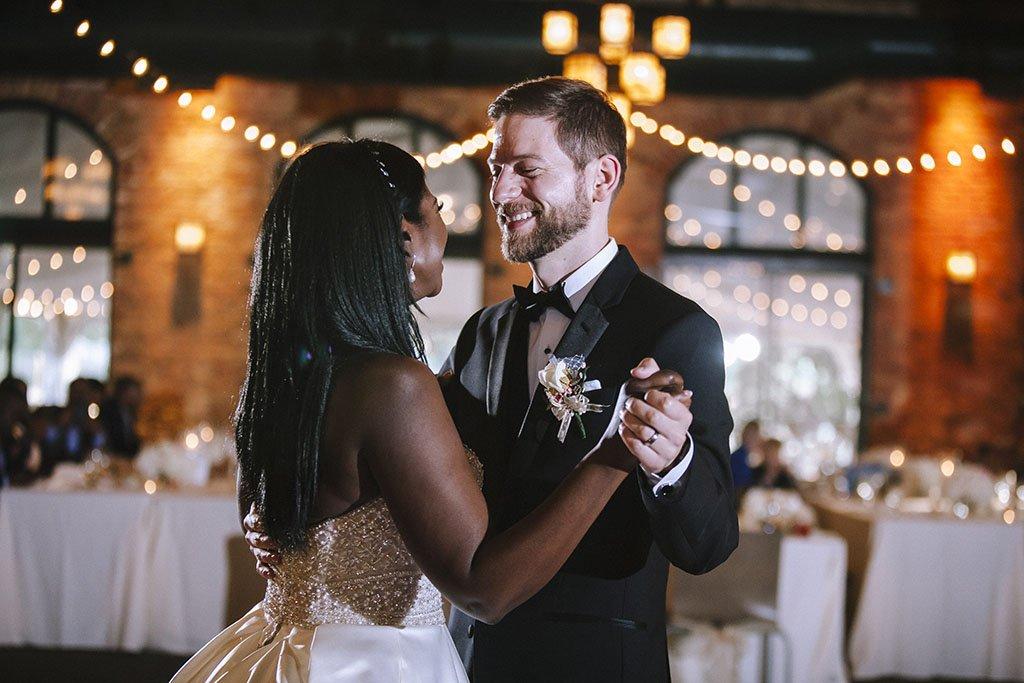 First Dance Nicollet Pavilion Minneapolis Wedding Photographers, Nicollet Island Pavilion Wedding