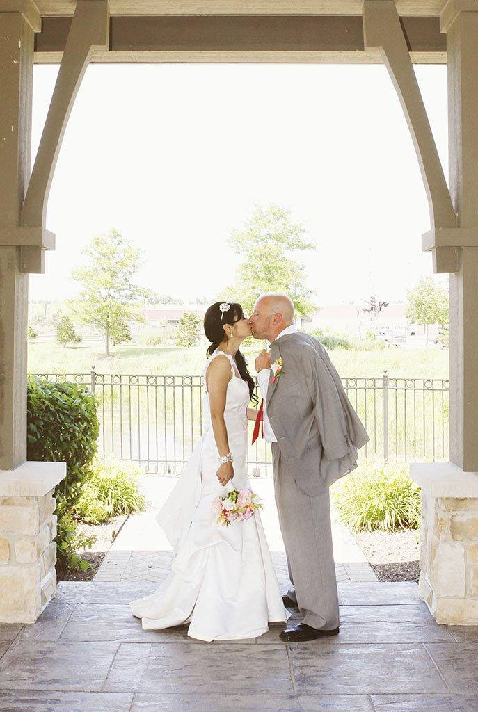Gazebo Park Wedding Portrait Glenview, Liz & Brian Married