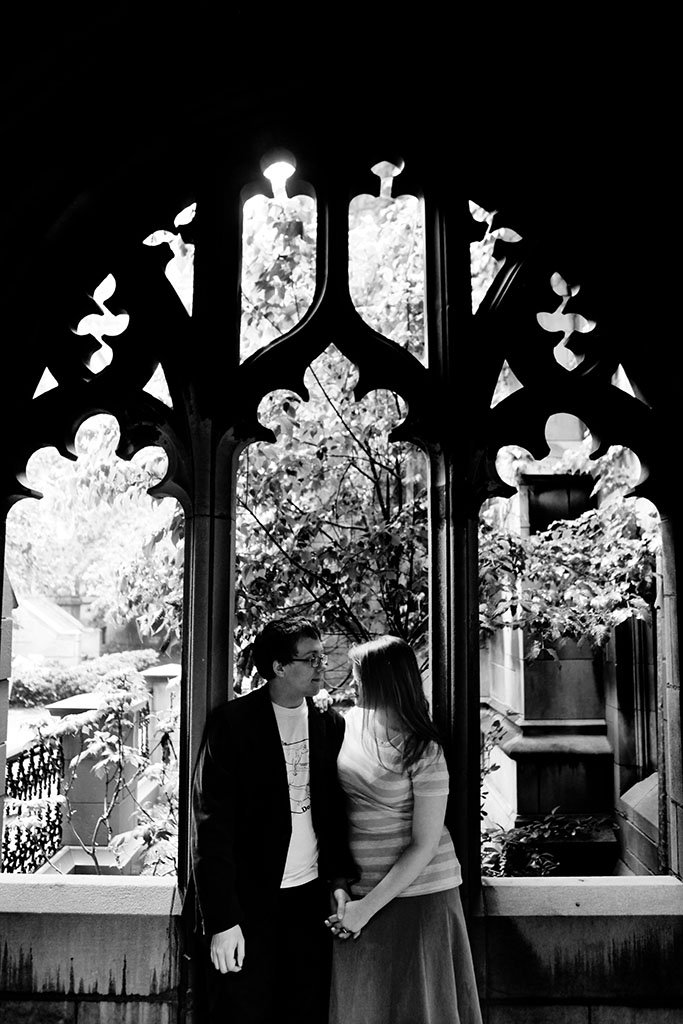 Gothic Architecture Chicago Engagement Photography, Midwest Wedding Photographer