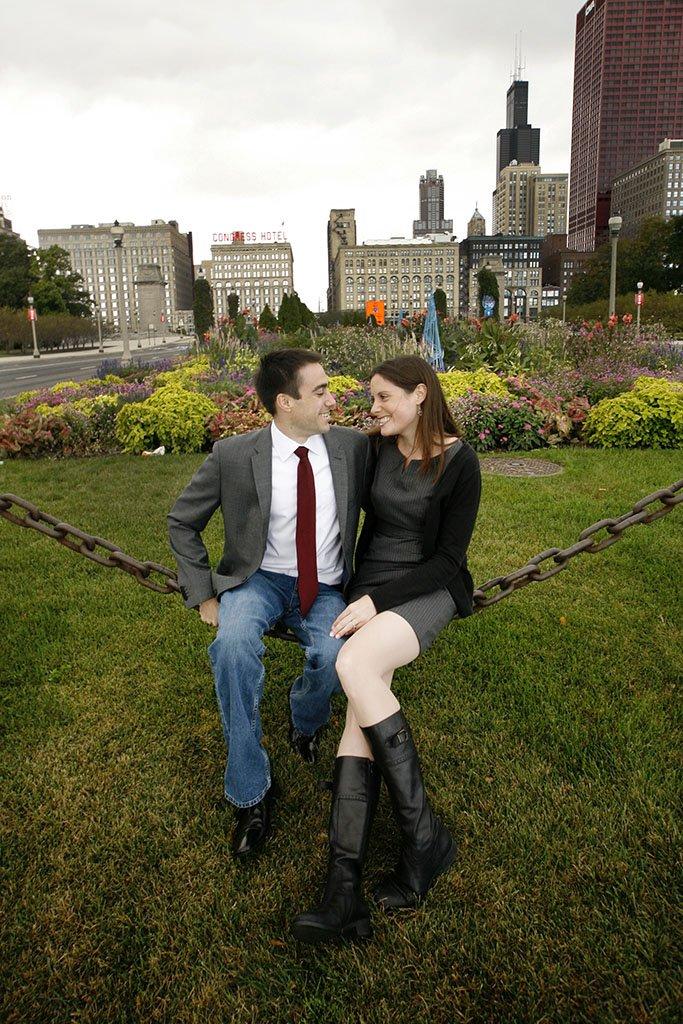 Grant Park Chicago Engagement Photography, Midwest Wedding Photographers, Zach & Katie