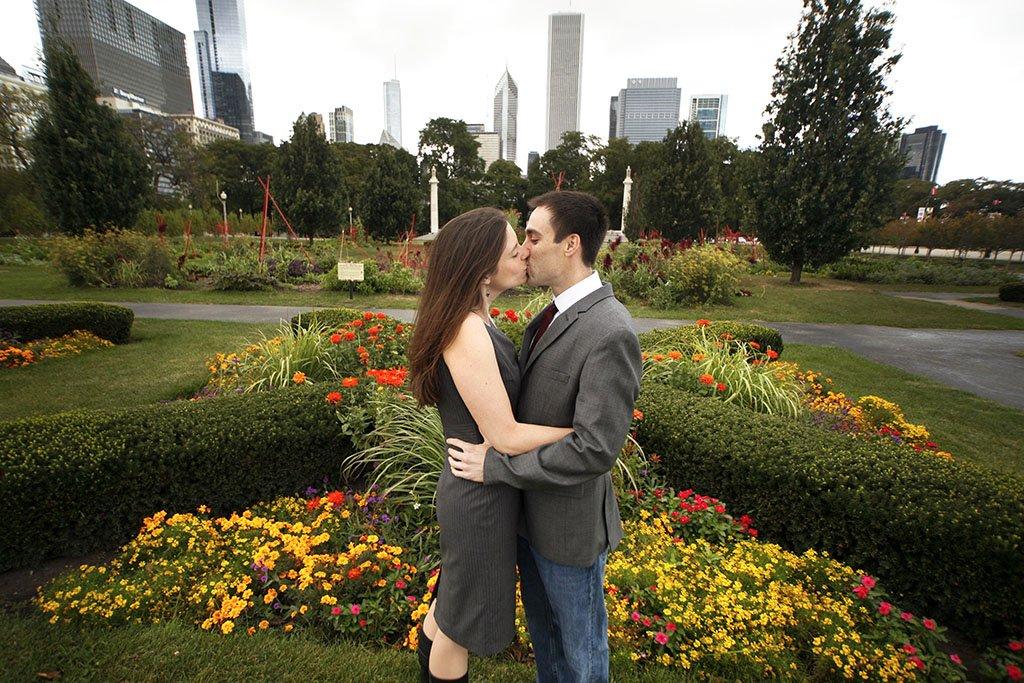 Grant Park Downtown Chicago Engagement Photographer, Chicago Wedding Photographers