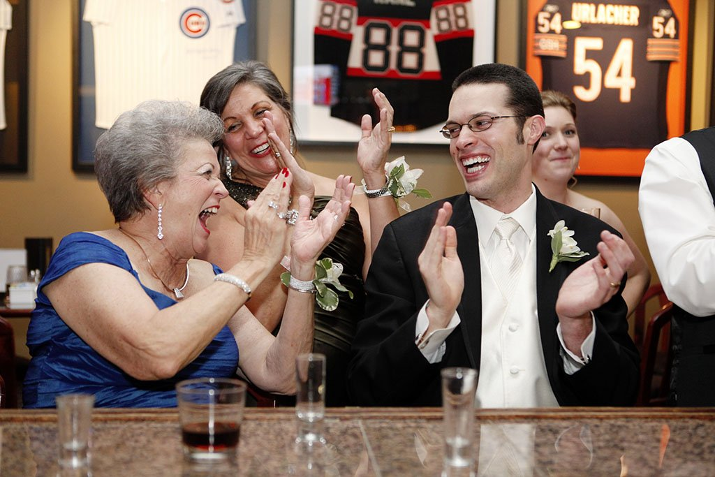 Groom Grandmother Wedding Reception Bar