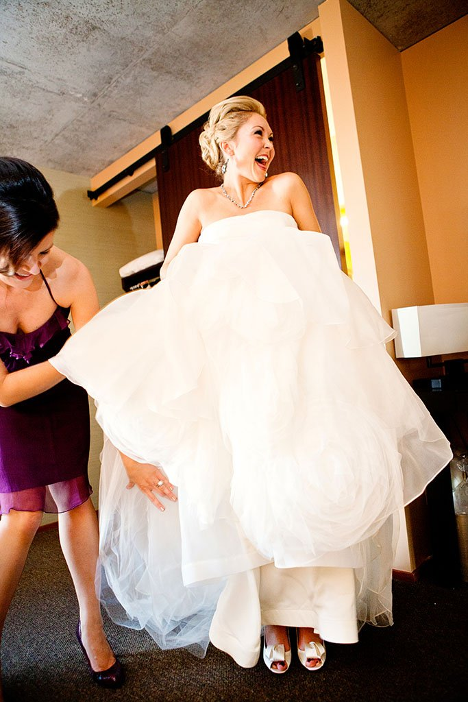 Happy Bride Getting Ready, Joyous bride, laughing bride