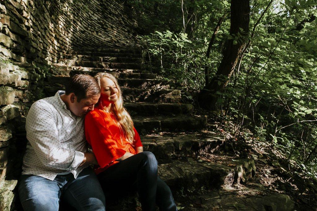 Hidden Falls Park Minneapolis Stone Staircase, St Paul Wedding Photographer
