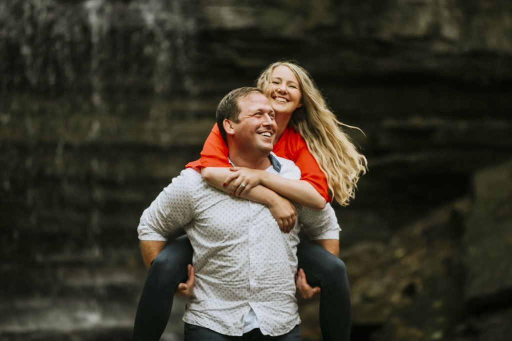 Hidden Falls Park Minneapolis, Twin Cities Engagement Photography, Laughing couple
