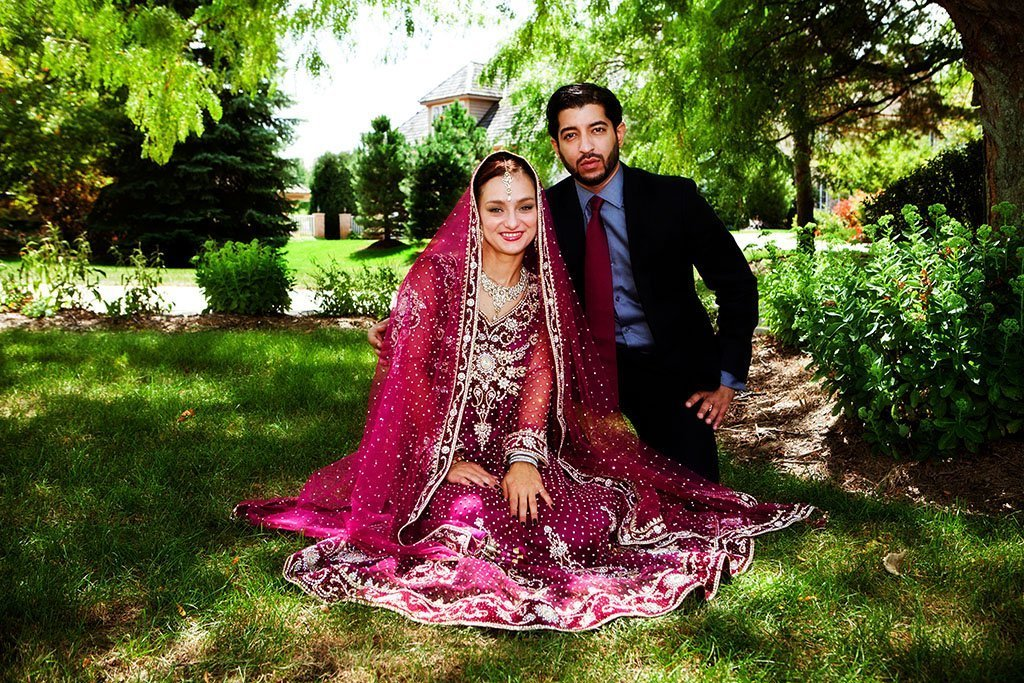 Indian Wedding Bride Groom Portrait Minnesota Photographers
