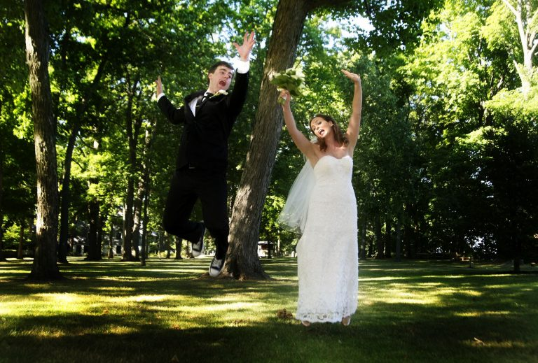 Highwood, Illinois, Chicago Wedding Photographers, fun, silly, jumping bride groom, Kathleen Nathan