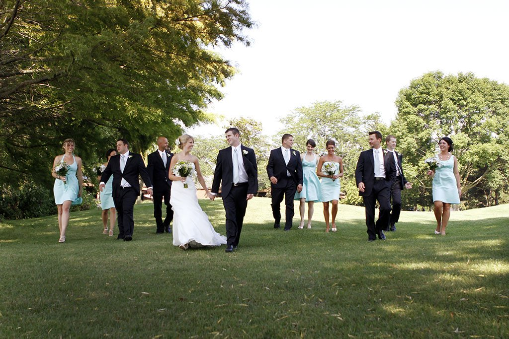 Kemper Lakes Country Club Bridal Party Wedding Portrait, Zack & Stacey Married