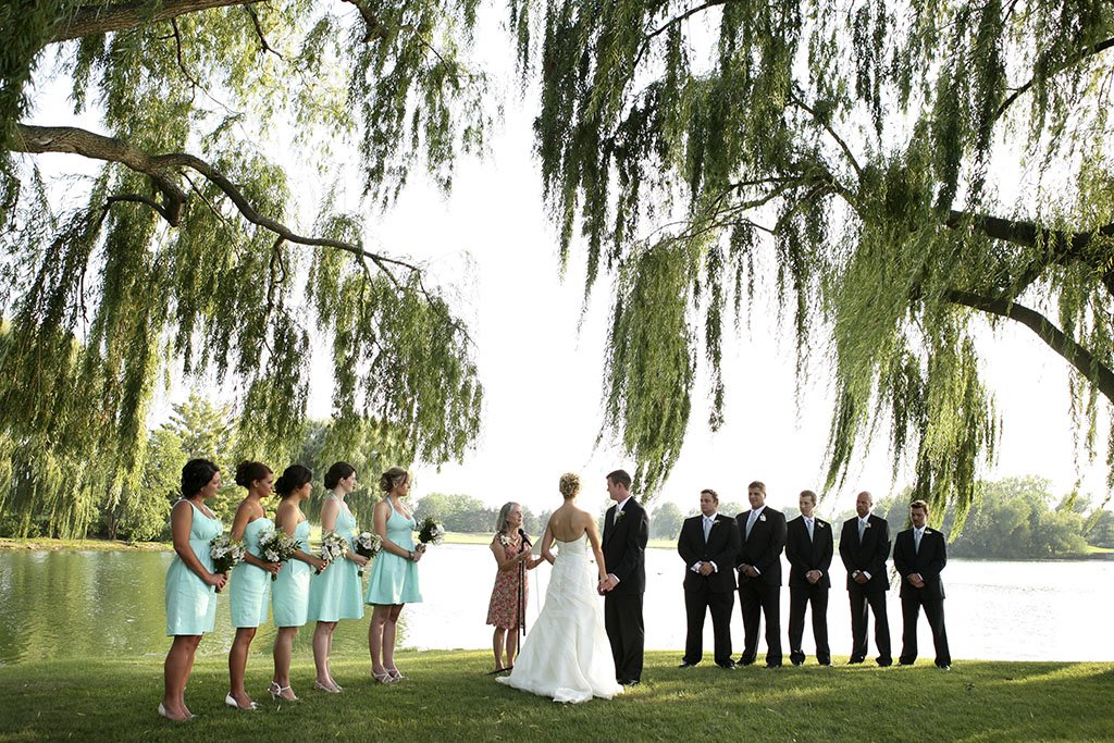 Kemper Lakes Country Club Wedding Ceremony, Minneapolis Wedding Photographer, Zack & Stacey Married