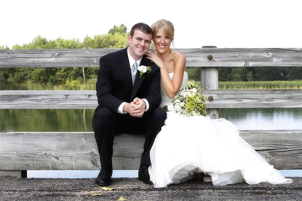 Kemper Lakes Country Club Wedding Portraits, Chicago Wedding Photographers, Zack & Stacey Married