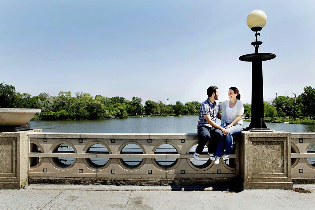 Lake Humboldt Park Chicago Engagement Photography, Minneapolis Wedding Photographer, Katherine & Jonathan