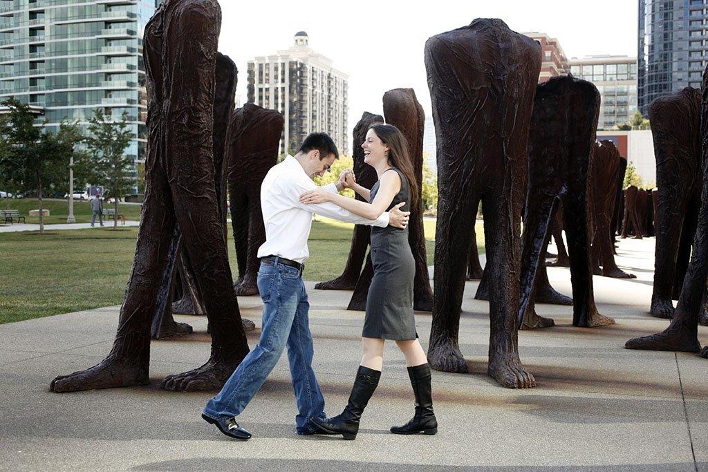 Leg Sculptures Chicago Engagement Photography, South Loop Chicago, Chicago Wedding Photographer, Zach & Katie