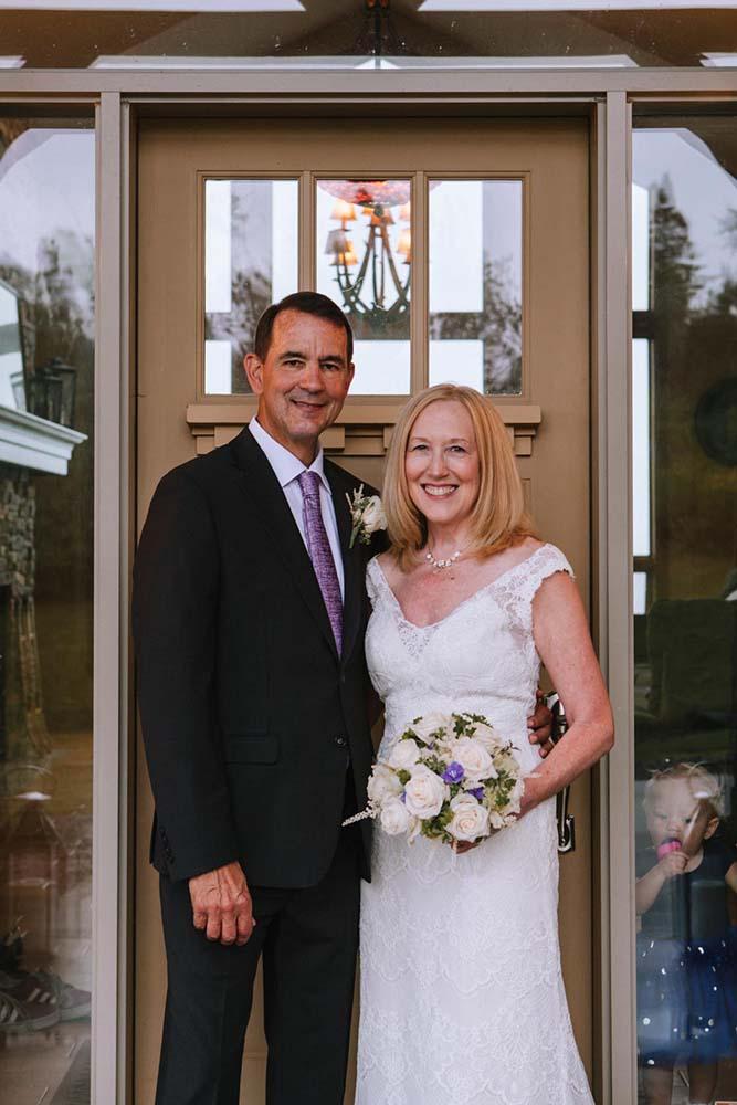 Mature Couples Wedding Portrait Bride Groom Candid Baby Kim & David's Wedding