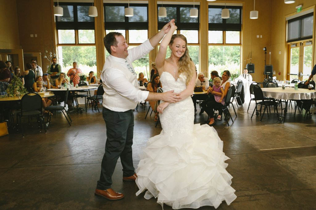 McColl Pond Wedding Reception, Green Wedding, Environmentally friendly wedding, sustainable wedding, first dance