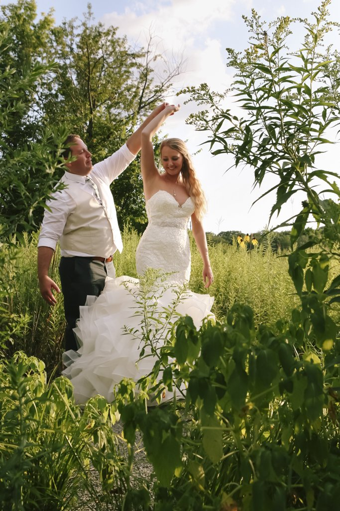 Wild Flower Field Wedding Photography, Minnesota Wedding Photographer