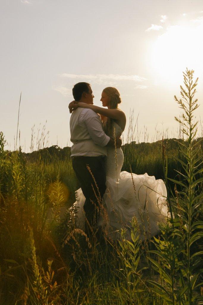 McColl Pond Wedding Sunset