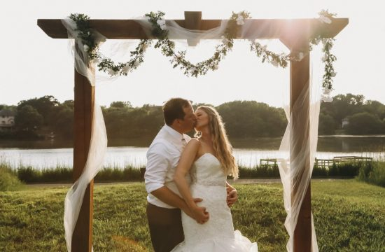 McColl Pond Wedding Altar, nature, outdoor summer wedding