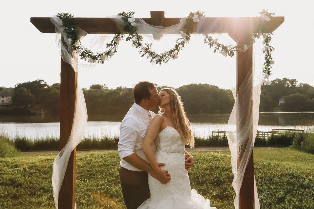McColl Pond Wedding Altar, nature, outdoor summer wedding