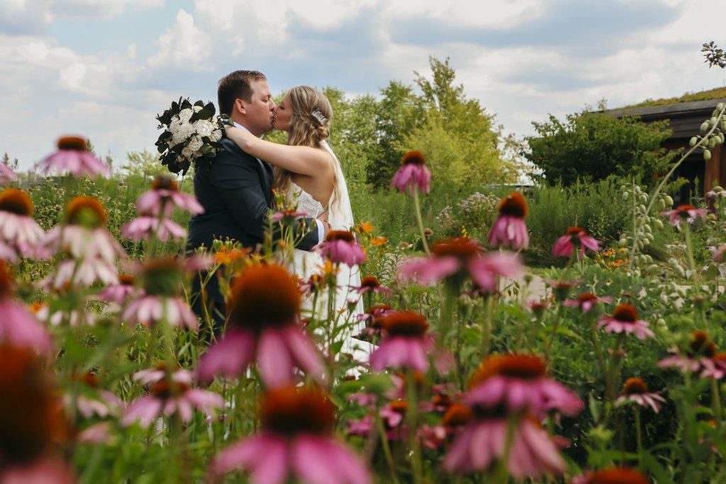 McColl Pond Wedding Wild Flowers, Outdoor summer wedding