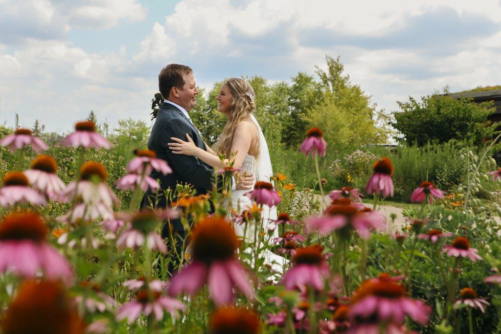 Wild Flower Wedding Portrait, Minneapolis Wedding Photographer