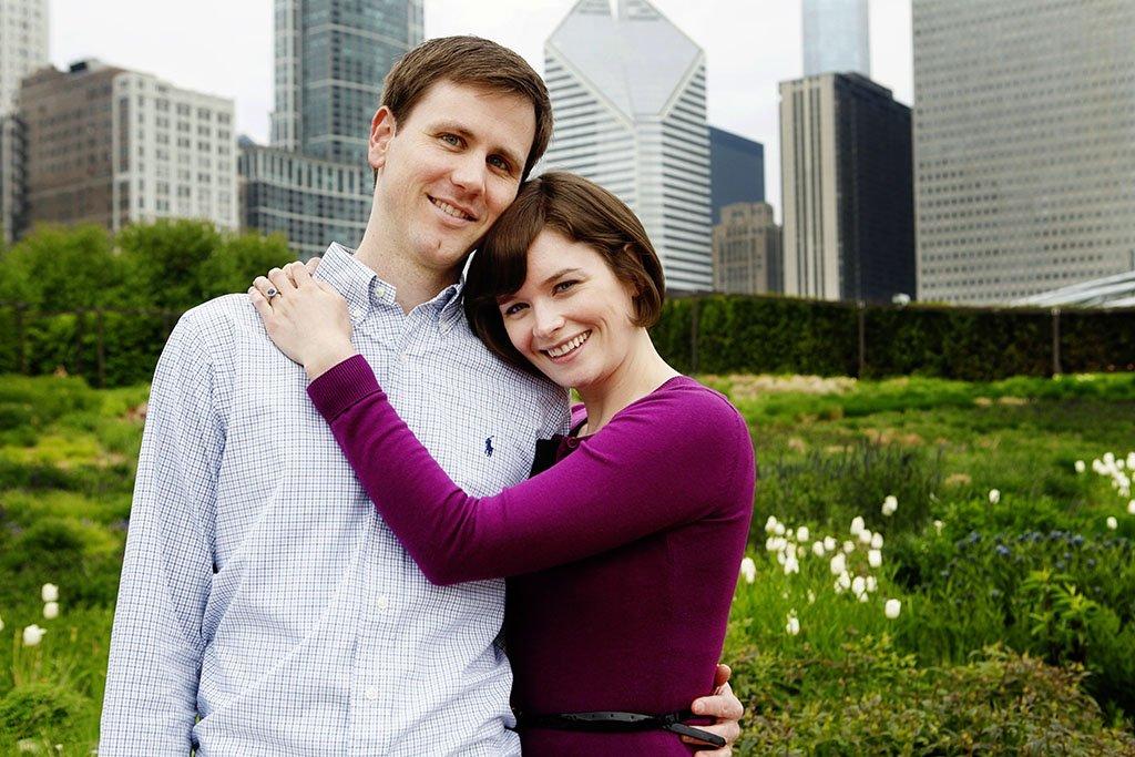 Millennium park Gardens Summer chicago engagement photographer, Minneapolis Wedding Photographers, Moira & Brent Engagement
