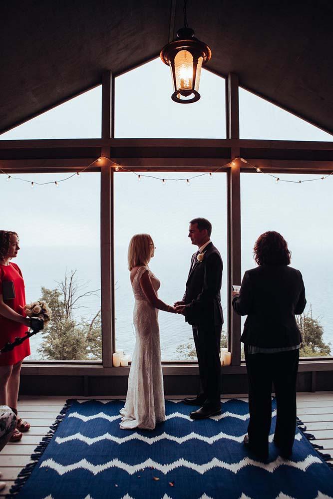 Natural Light Lake Superior Wedding Ceremony Saint Paul Wedding Photographer