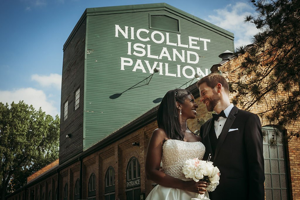Nicollet Island Pavilion Minneapolis Wedding Photographers