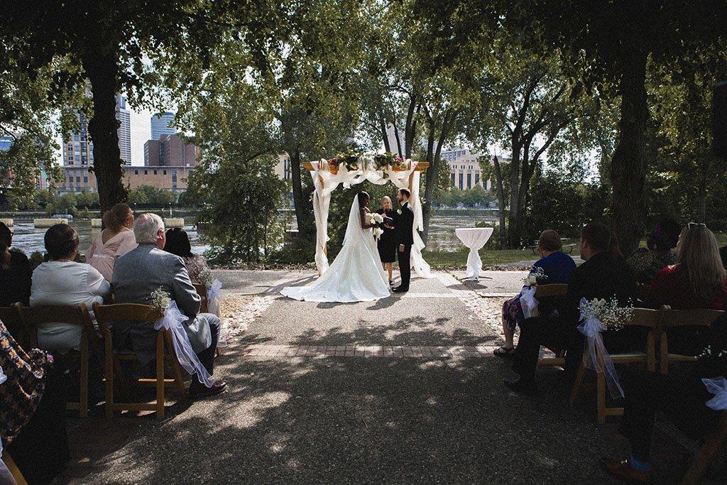 Nicollet Island Pavilion Wedding Ceremony