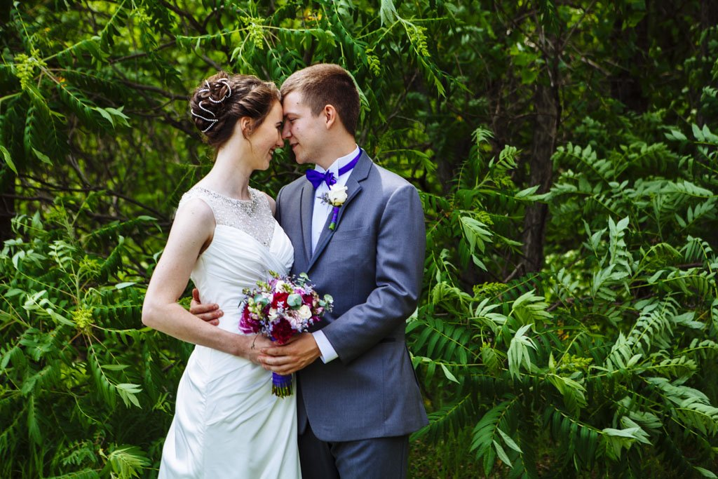 Outdoor Wedding Portrait Fridley Minnesota