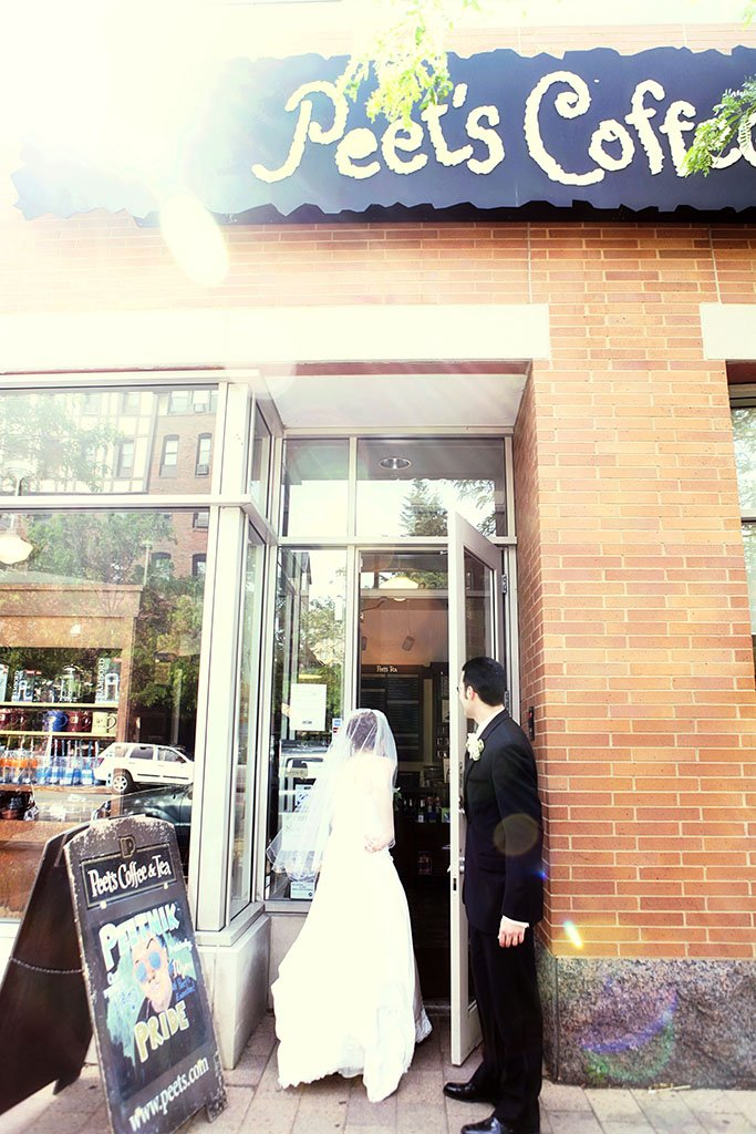 Peet's Coffee Evanston Wedding Photographer, St Paul Wedding Photographer, Erin & Joe Married