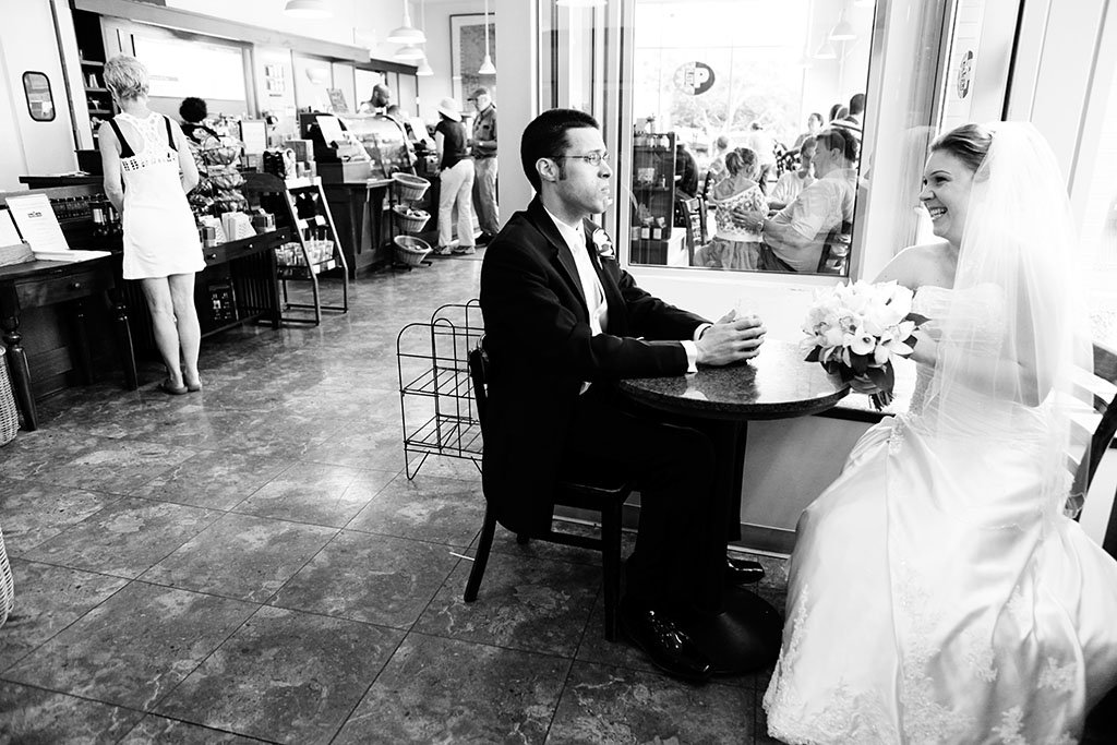 Peet's Coffee Evanston Wedding Photography, Midwest Wedding Photographer, Erin & Joe Married