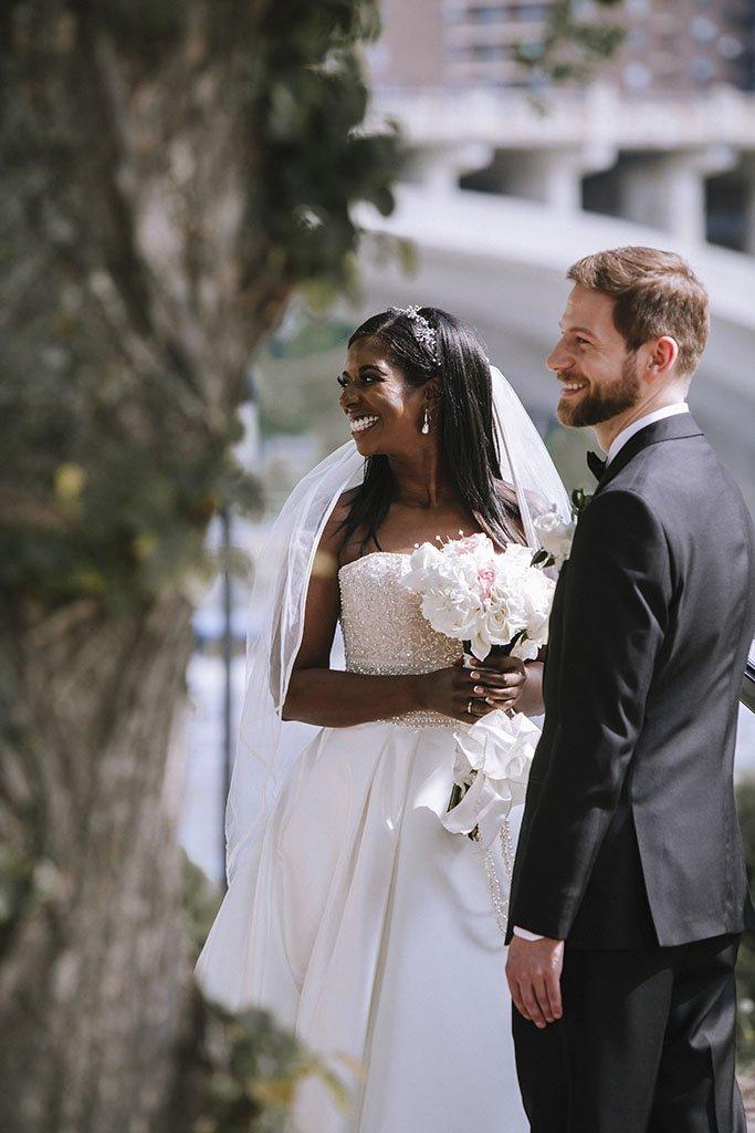 Photojournalism Wedding ceremony Candid, Nicollet Island Pavilion Wedding