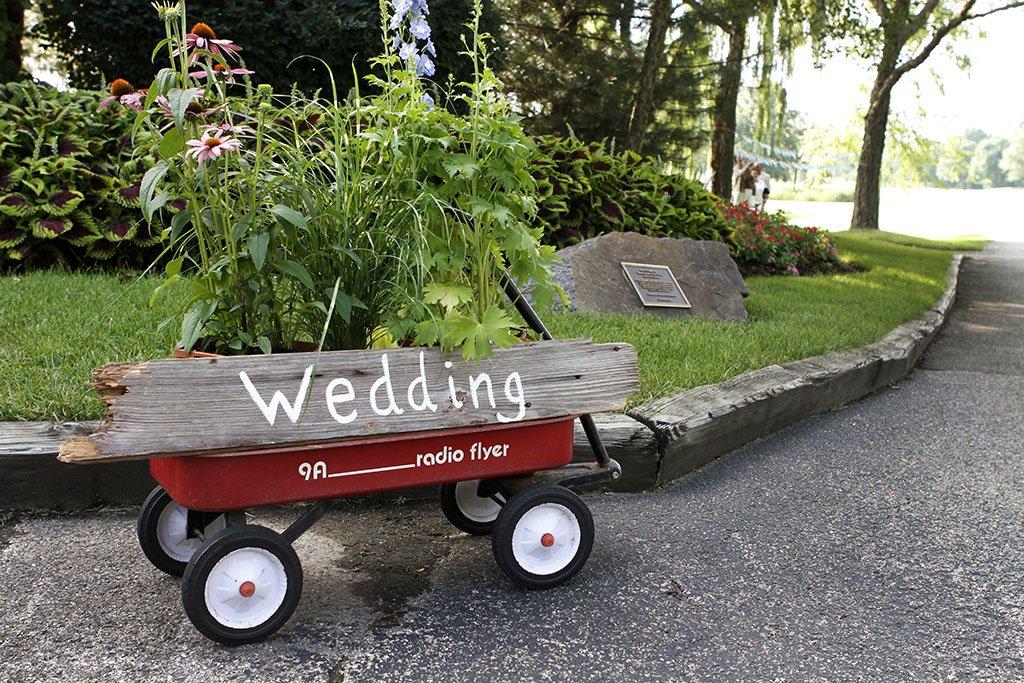 Radio Flyer Wagon Wedding