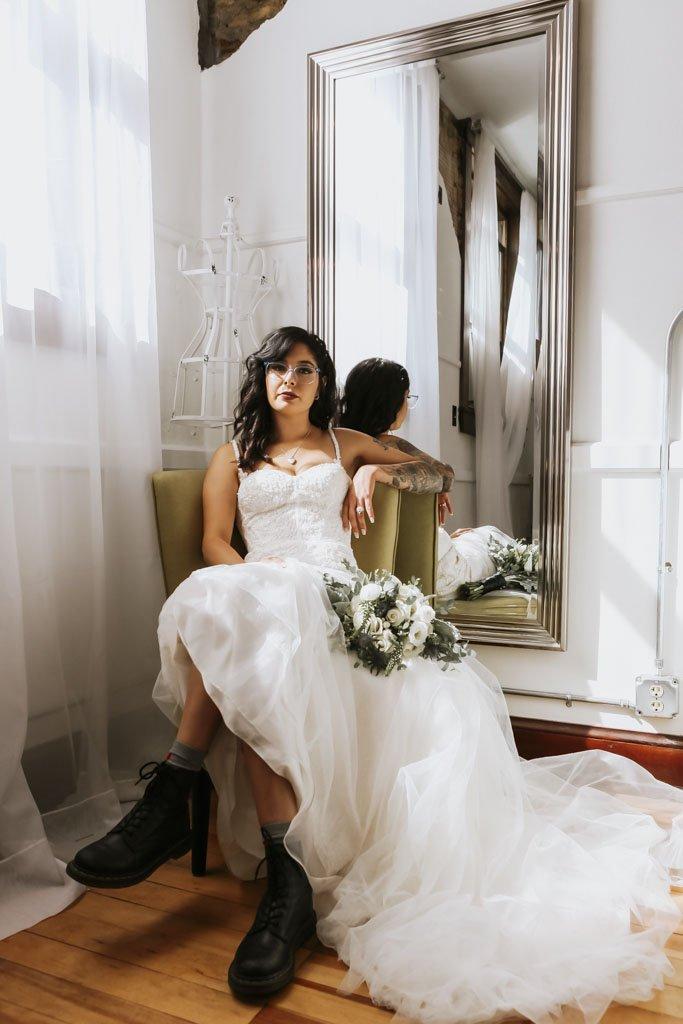 Rock n Roll Bride Portrait, Minnesota Wedding Photographer