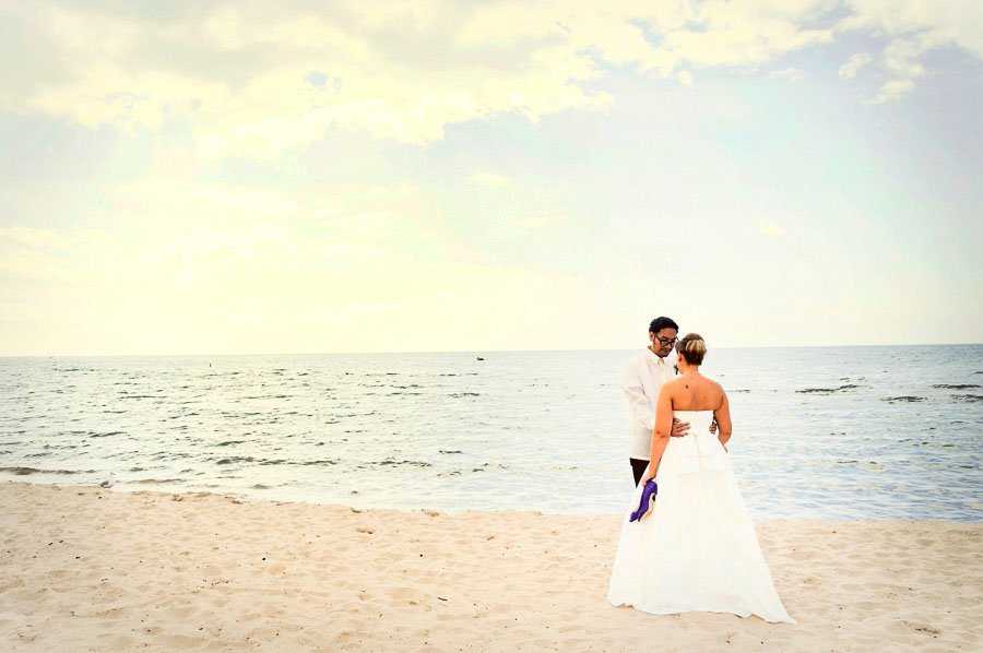 South Haven Michigan Beach Wedding Photography, Kate and Desi Married