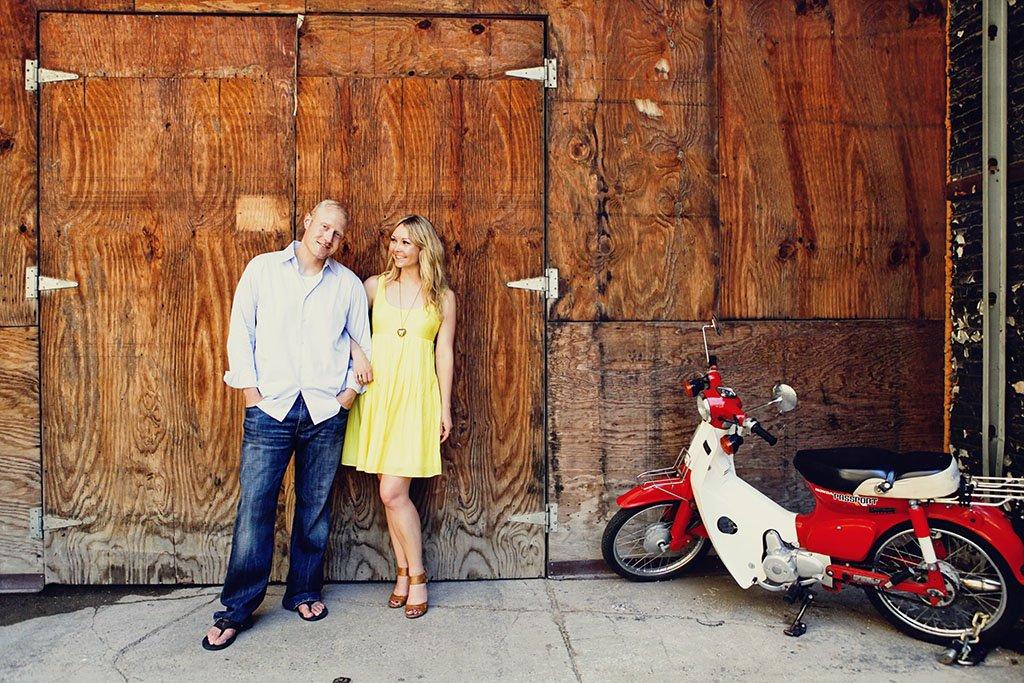 Charles & Beata Summer Engagement Photography Scooter, Urban engagement photography