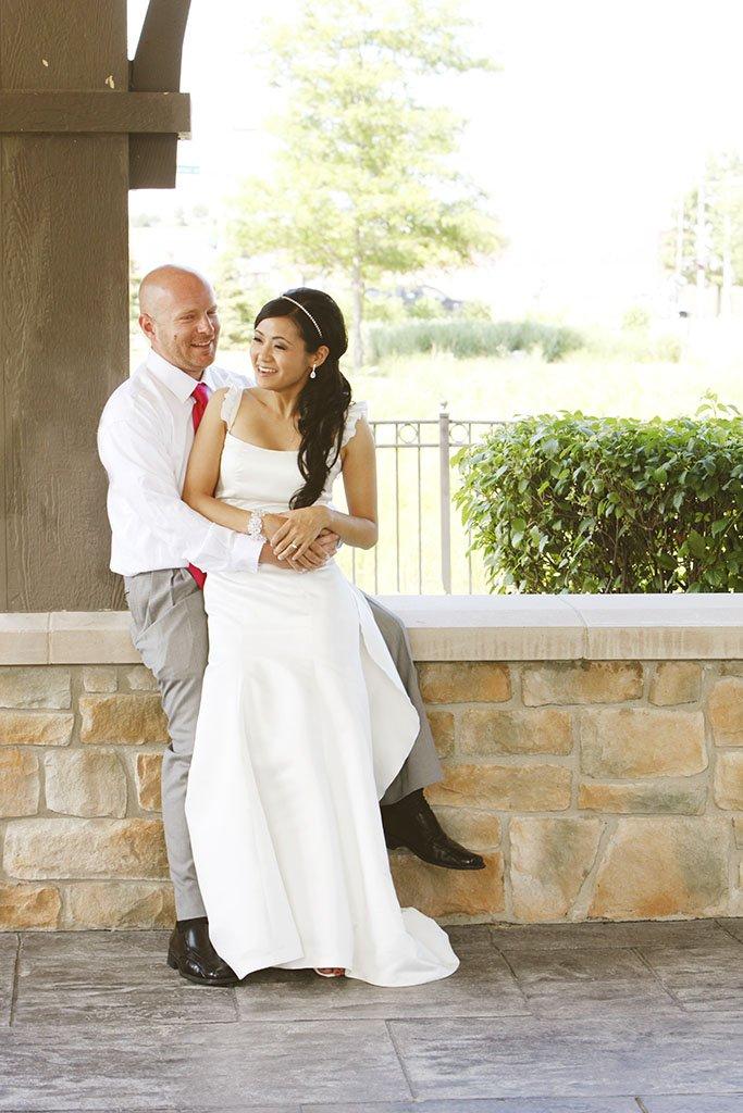 Summer Park Wedding Portrait Glenview, Liz & Brian Married
