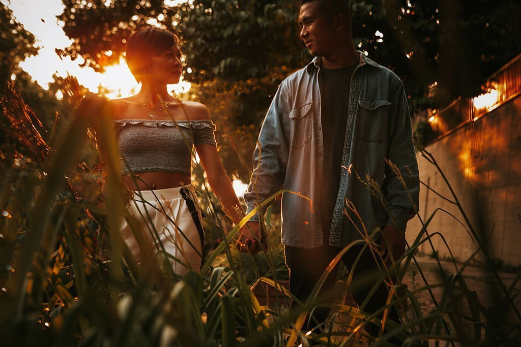 Sunset St Anthony Main Minneapolis Engagement Photographers, Wedding Photography, nature, glow, love