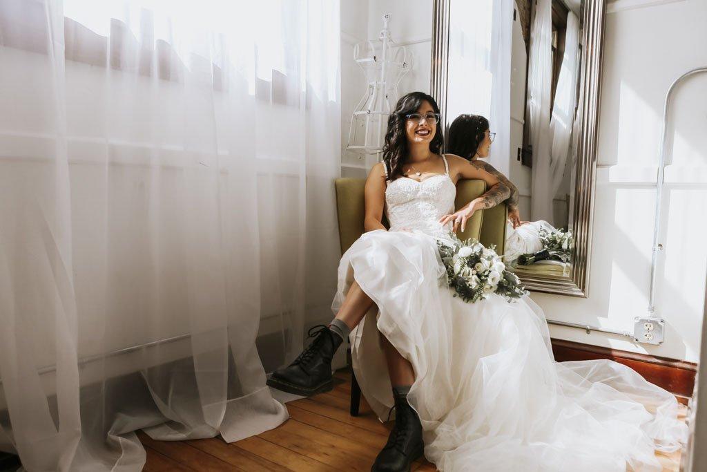 The 3 Ten Faribault MN Bridal Room, cool bride