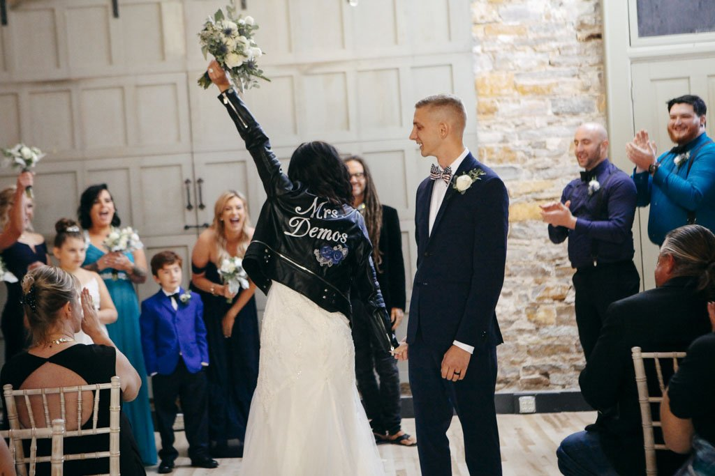 The 3 Ten Wedding Ceremony Biker Jacket Bride