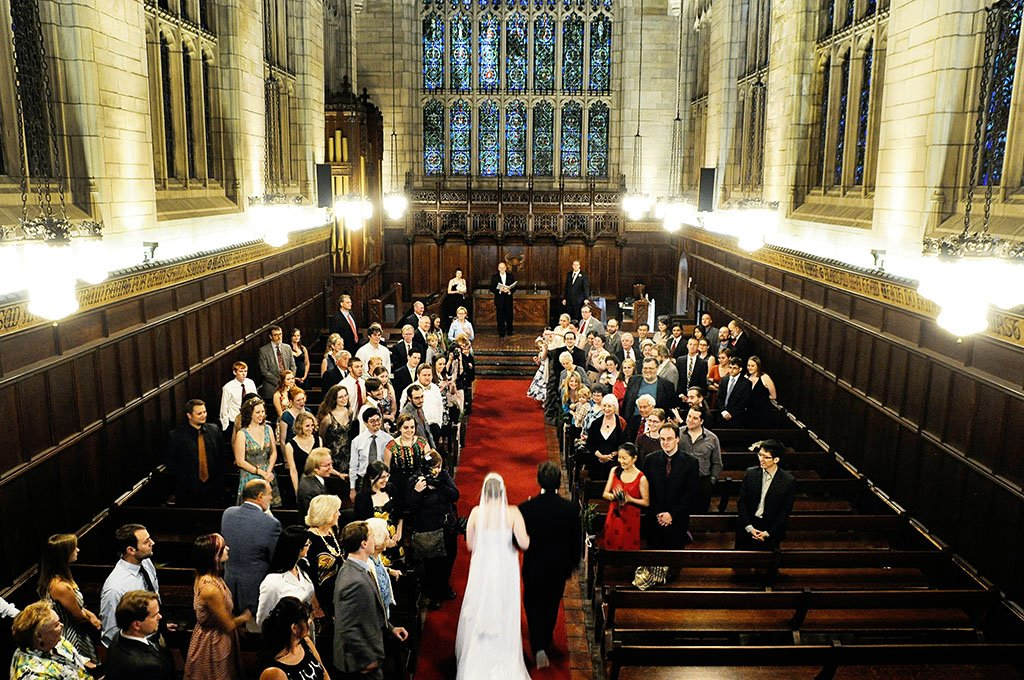 University Chicago Bond Chapel Wedding Ceremony