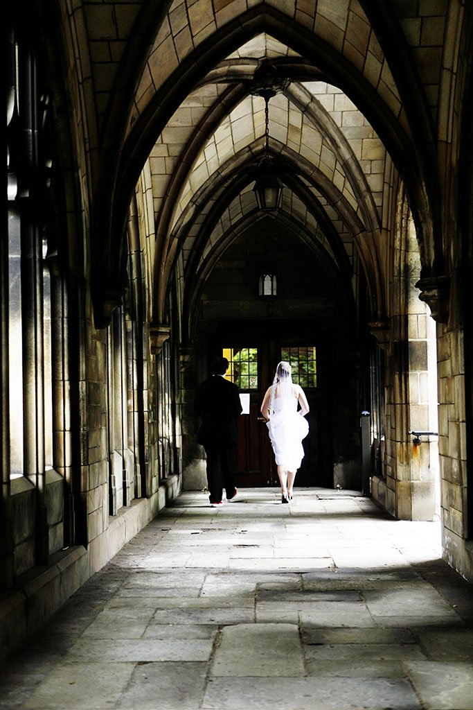 University Chicago Wedding Bride Groom