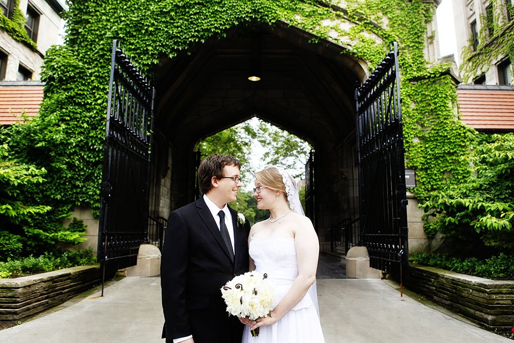 University Chicago Wedding Portrait