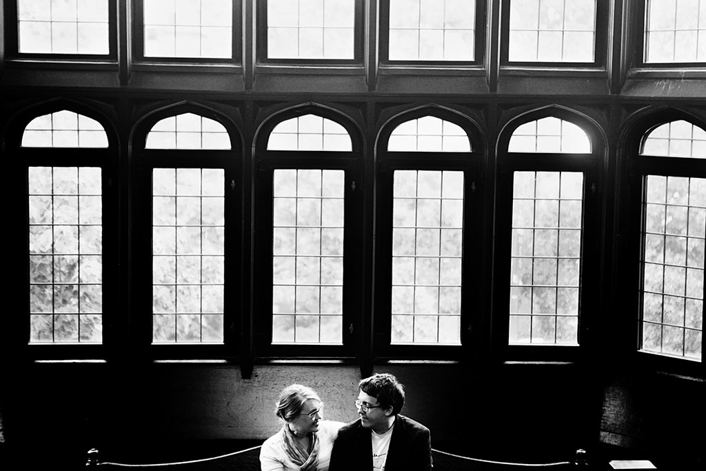 University of Chicago Arley D. Cathey Learning Center Engagement Photography, Eric & Mame Engagement