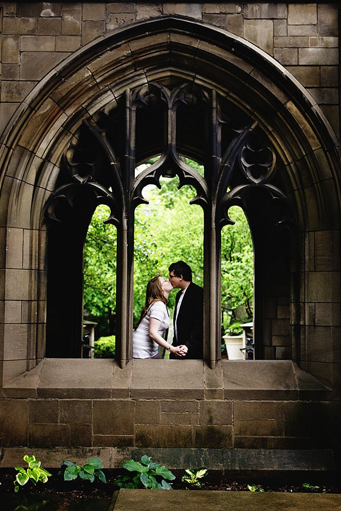 University of Chicago Library Engagement Photography, Chicago Wedding Photographer
