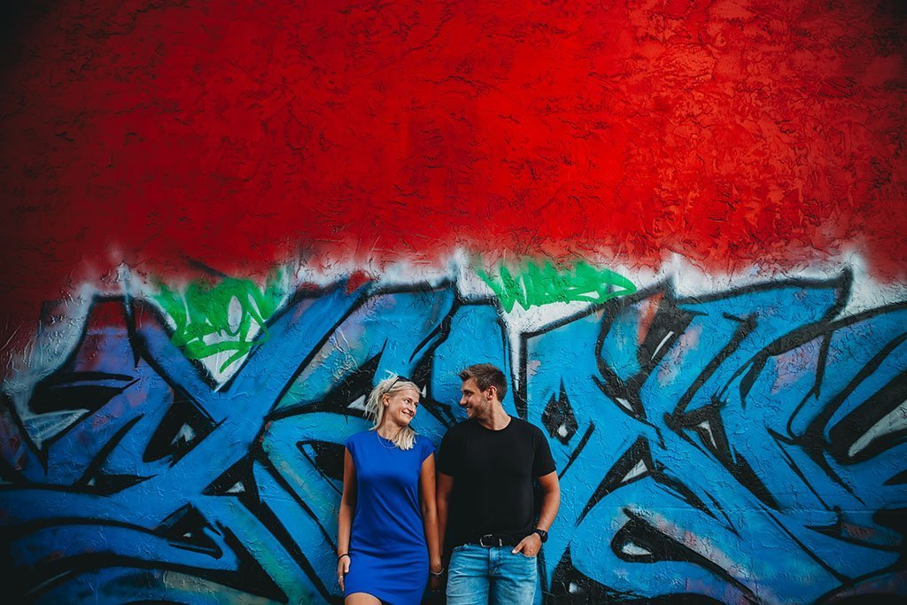 Uptown Graffiti Minneapolis Engagement Photography