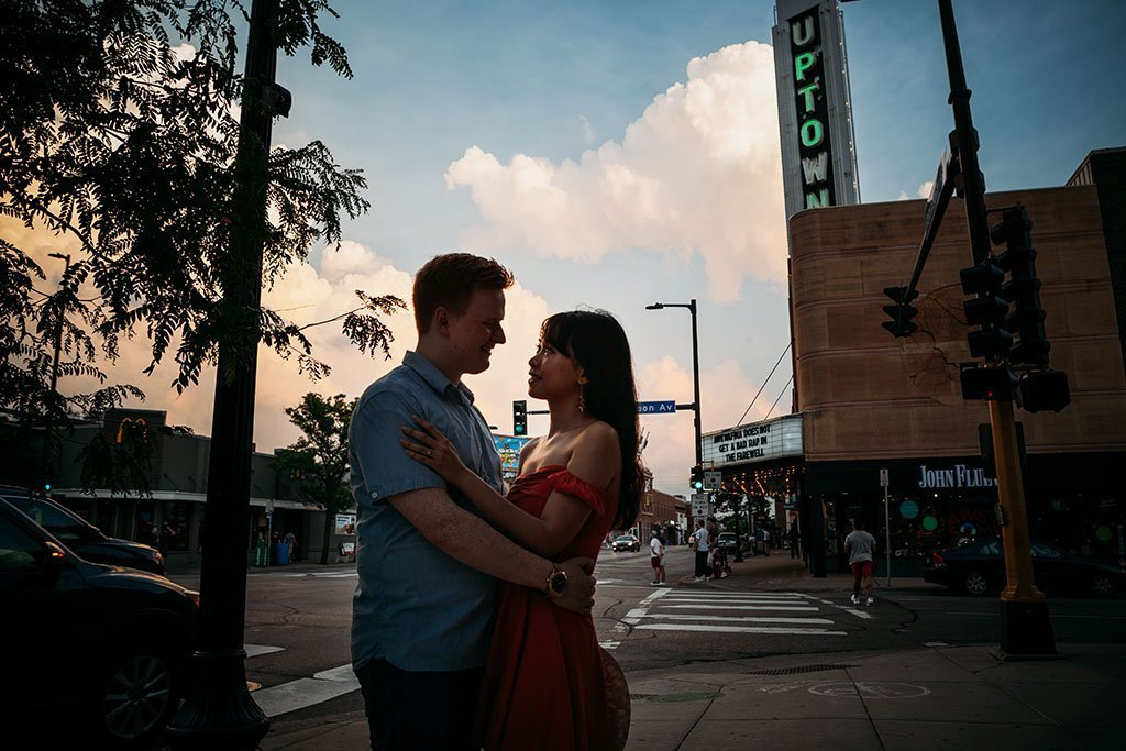 Uptown Minneapolis Engagement Photography